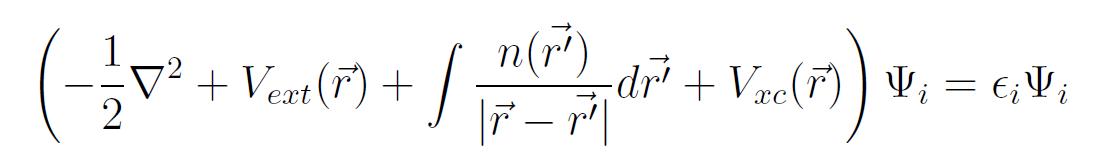 Kohn-Sham equations